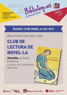 Club de lectura de novel·la 'Charlotte'