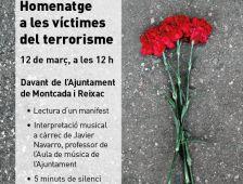 Cartell de l'homenatge a les víctimes del terrorisme