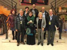 L'alcaldessa i la representació de l'Afotmir amb membres de la CEF