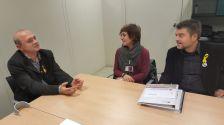 L'alcaldessa i el regidor d'Urbanisme amb el diputat de Mobilitat