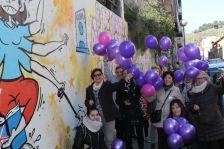 Representants dels grups de dona donen la benvinguda oficial al mural