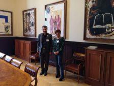 Reunió al Parlament amb el conseller Calvet