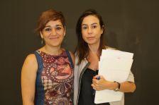 L'alcaldessa amb la nova presidenta d'Adif, Isabel Pardo