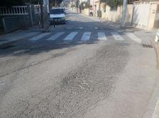 Estat de l'asfalt de l'avinguda de Terra Nostra