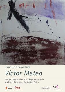 Cartell de l'exposició Víctor Mateo