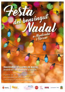 Cartell de la festa de benvinguda al Nadal