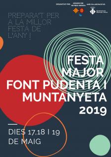 Cartell de la Festa Major Font Pudenta-Muntanyeta 2019