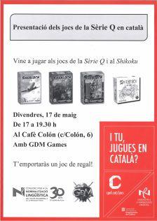 Presentació del jocs de Sèrie Q en català