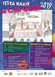 Cartell de la Festa Major de Can Cuiàs 2019