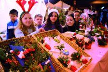 Infants durant una edició de la Fira de Nadal