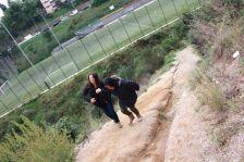 Camí que connecta Can Cuiàs amb el camp de futbol de Ciutat Meridiana