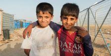 Una de les imatges incloses a l'exposicio 'Els innocents de les guerres'