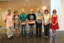 Fotografia de família dels premiats, amb les autoritats
