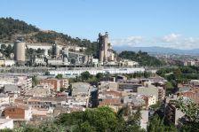 Vista de Lafarge des de la muntanyeta de Can Sant Joan