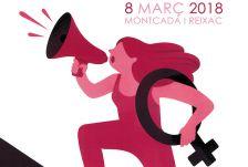 Detall del cartell guanyador del concurs '8 de març' 2018