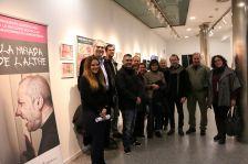Fotografia de família de la inauguració de l'exposició 'La mirada de l'altre'