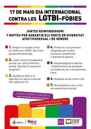 17 de maig  Dia Internacional contra les LGTBI-fòbies